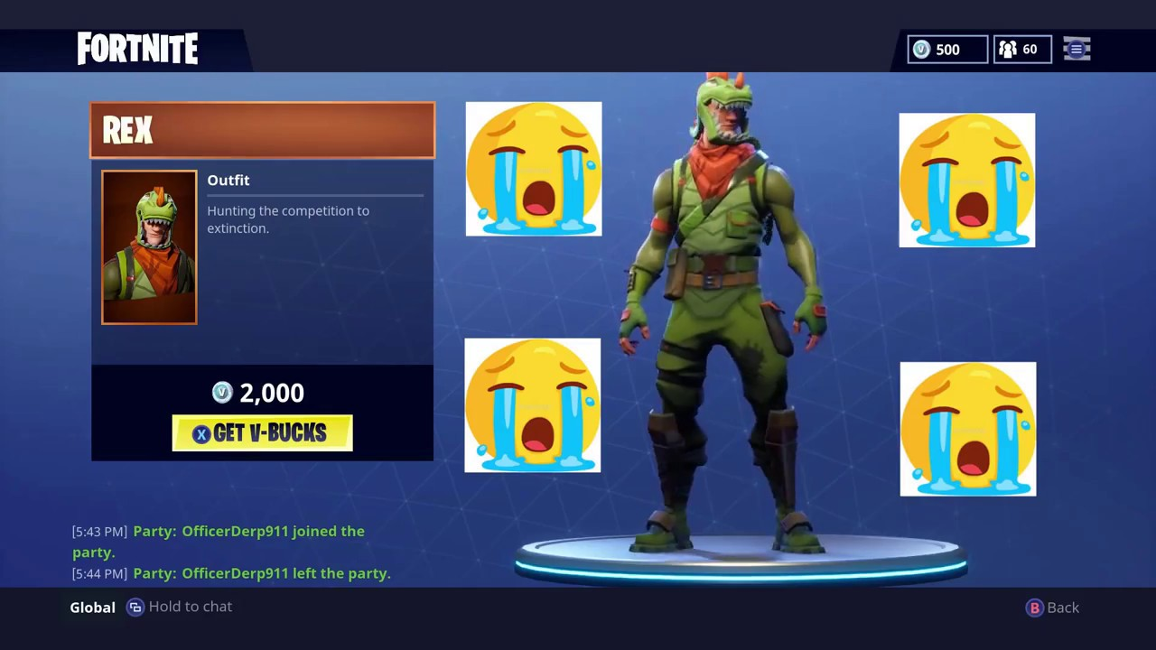 Fortnite Shop Items 3 27 18 T Rex Is Back Youtube