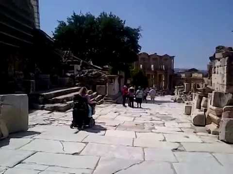 6 - Condition of the Street in front of the Celsus Library - Wheelchair Accessible Ephesus Tours
