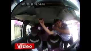 Polis kamerasından dehşet anları!