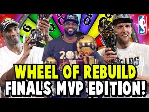 WHEEL OF REBUILD! NBA FINALS MVP EDITION! 82-0 SQUAD BUILDER CHALLENGE! NBA 2K17 MY LEAGUE