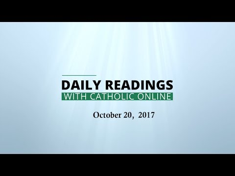 Daily Reading for Friday, October 20th, 2017 HD