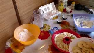 Пирог с творогом и яблоком