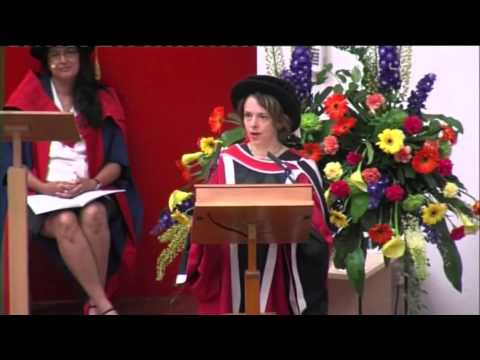 Lucy Kellaway receives her Honorary Degree at the University of Essex