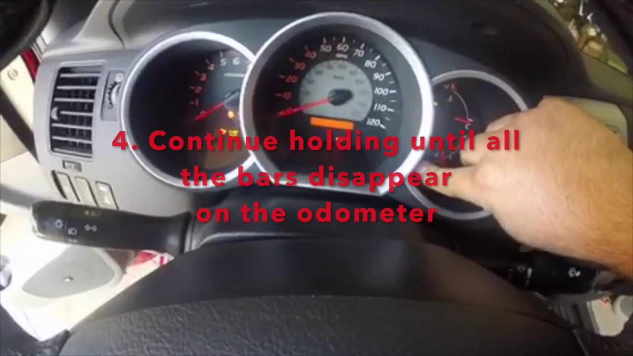 Reset Maintenance Light Toyota