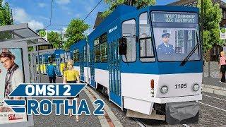 OMSI 2 Rotha #2: Mit der Straßenbahn Tatra KT4D auf der Linie 2! | Bus-Simulator