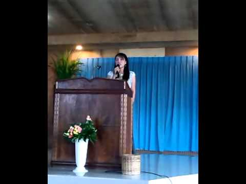 "Special number from Davao Bible Baptist Church entitled ""Somebody prayed for me"""