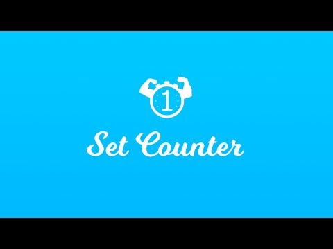 Set Counter - Healthy Fitness Workout Personal Trainer Exercise Number Counter Trailer HD