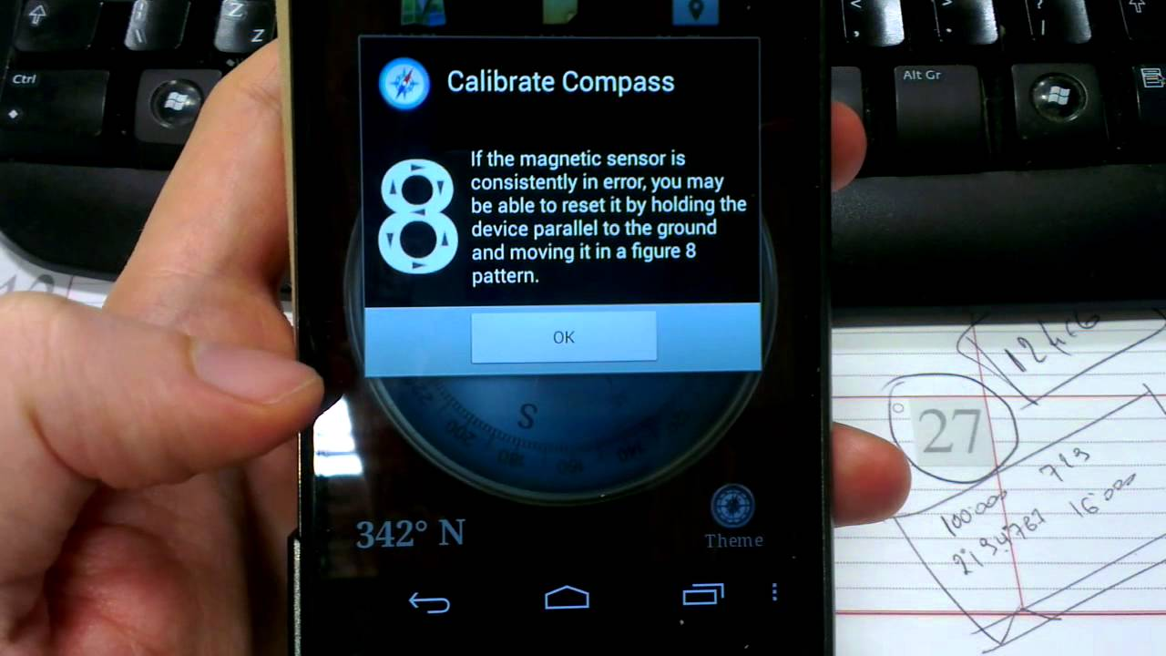 Calibrate the compass | Android VIP Club
