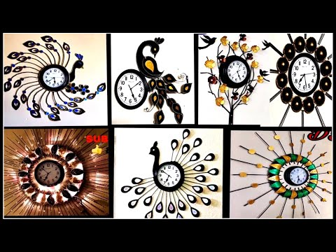 7 wall clock | Waste material craft ideas | Watch decoration ideas | Fashion pixies