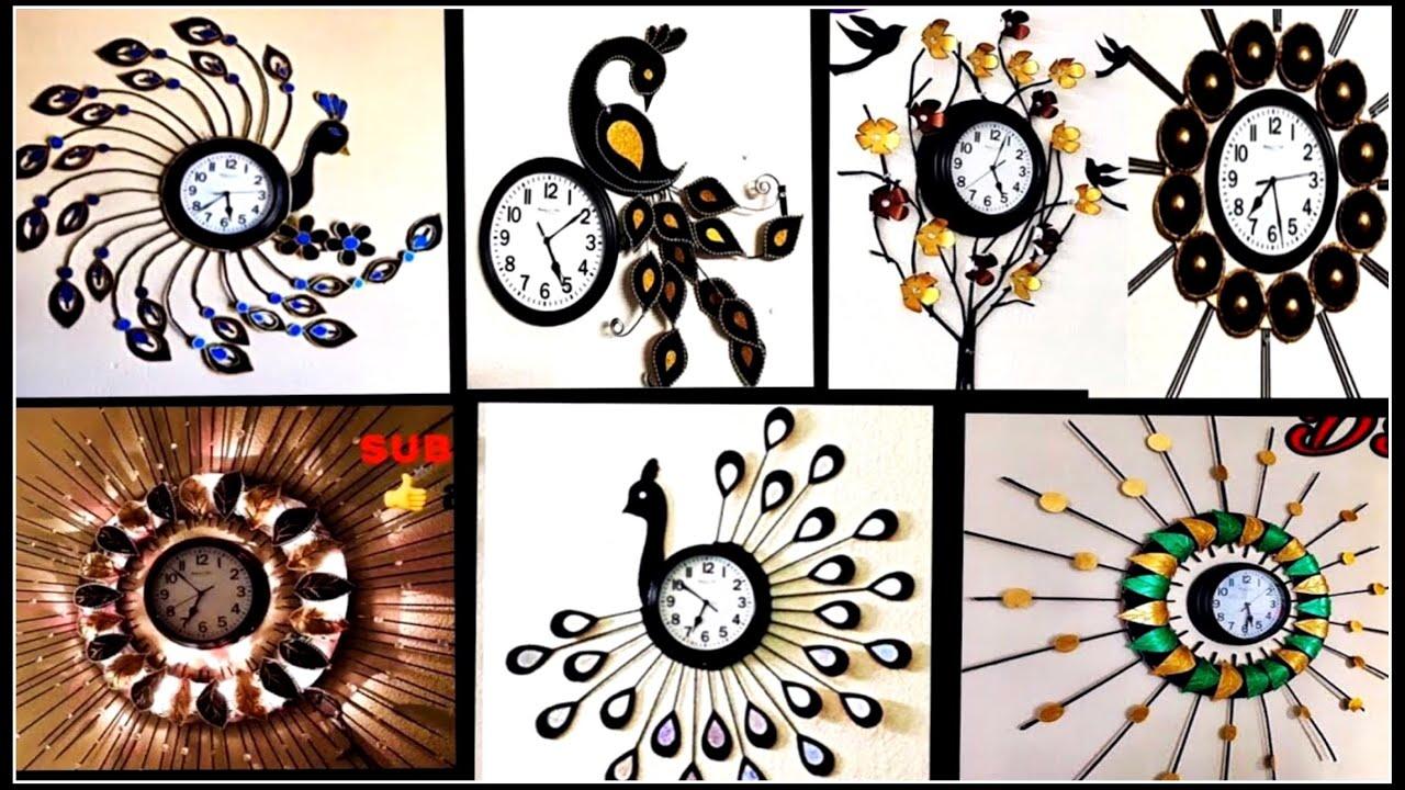 Wall Clock Decoration Clock Decoration Ideas Fashion Pixies Wall Hanging Wall Clock Craft Youtube