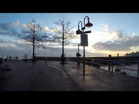 STREET VIEW: Friedrichshafen am Bodensee im Winter in GERMANY