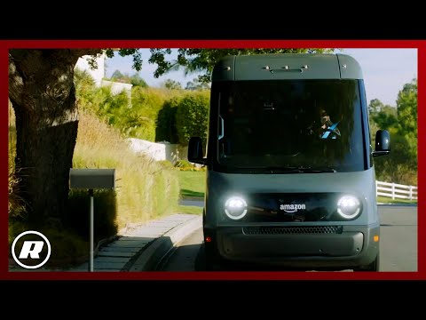 Amazon's Rivian-built electric delivery van hits the road in LA
