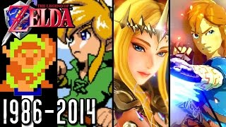 Repeat youtube video The Legend of Zelda ALL INTROS 1986-2014 (Wii U, GCN, N64, SNES, NES)