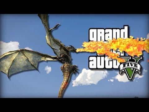 GTA 5 | RIDE-ABLE DRAGONS MOD! | Mod Showcase