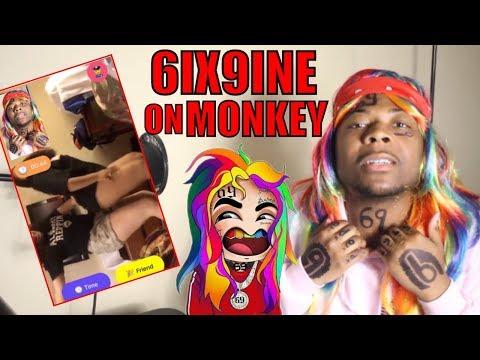 6IX9INE TALKING TO RANDOM GIRLS ON MONKEY APP!!!