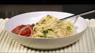 Tuna, lemon & basil spaghetti recipe