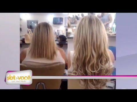 Veja como é feita a colocação correta dos alongamentos de cabelo