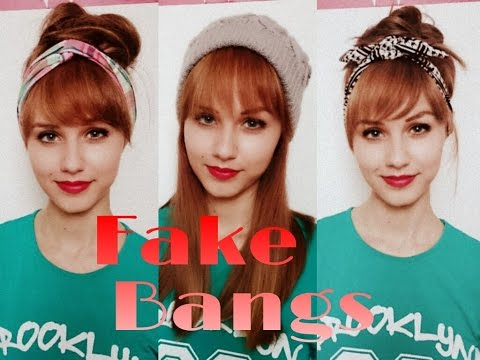 How to Fake Bangs Without Cutting / Adding any Hair