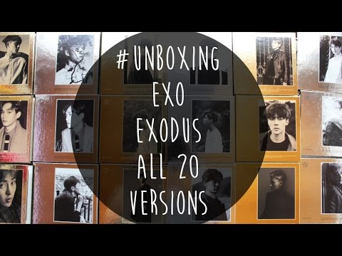 [Unboxing] EXO Exodus Korean & Chinese ALL 20 VERSIONS
