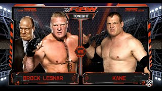 WWE 2K16- PC Gameplay- Brock Lesnar vs. Kane - One on One Match: On RAW 2016, WWE 2K16 (PC)