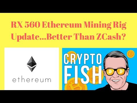 RX 560 Ethereum Mining Rig Update... Better Than ZCash?