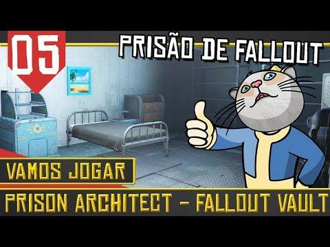 Prison Architect Fallout Mod #05 - Acabaram as tretas [Série Gameplay Português PT-BR]