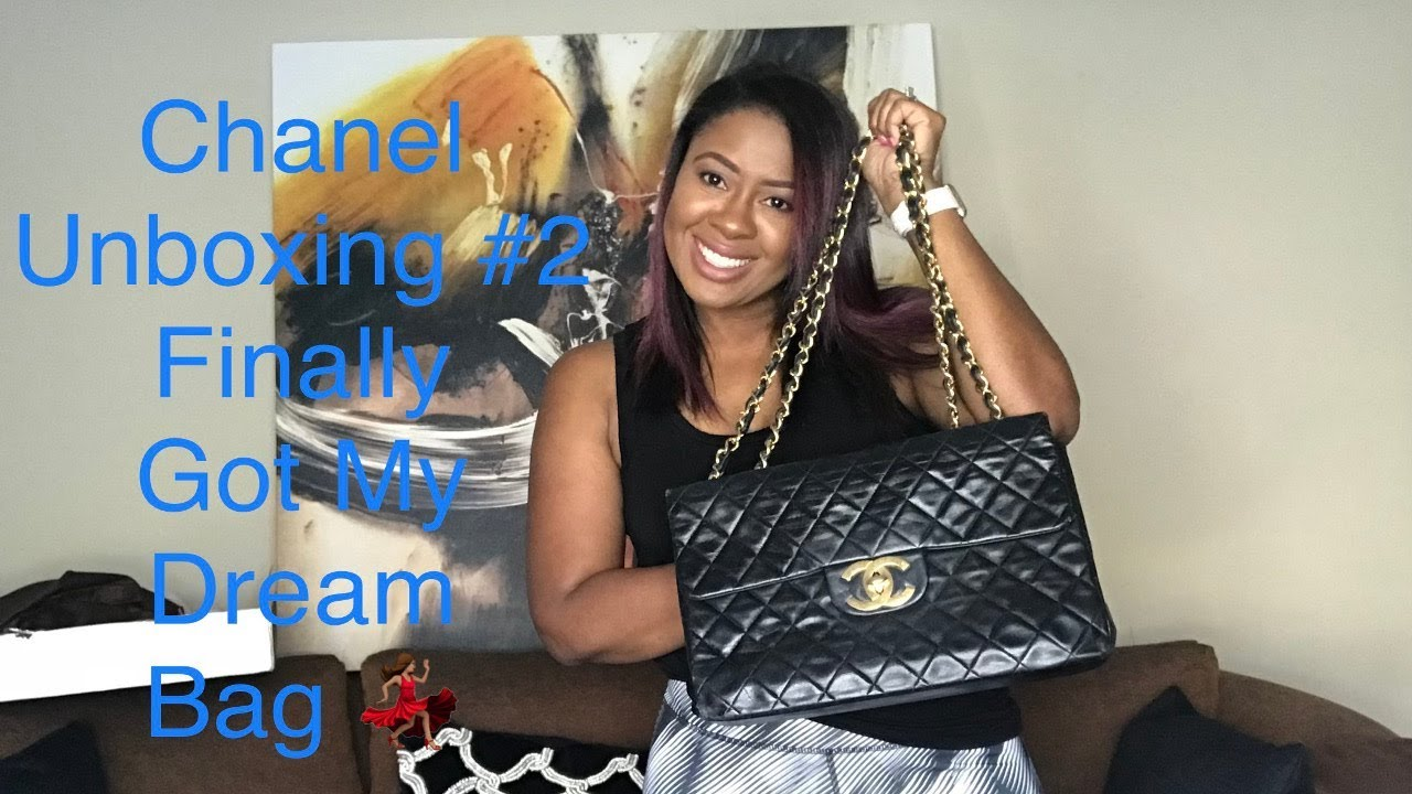 5beb8e01bdaa Another Chanel Unboxing| Vintage Chanel XL Maxi Take TWO - YouTube