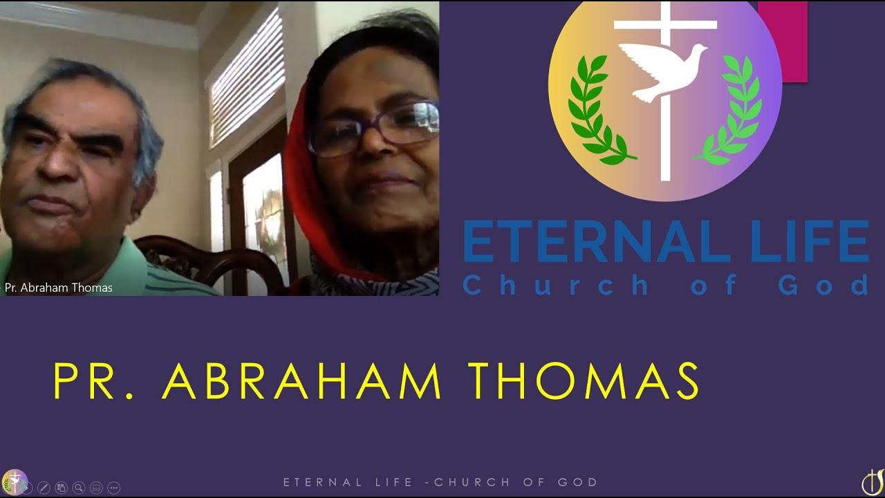 MESSAGE -PR. ABRAHAM THOMAS