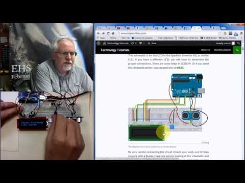LESSON 20: Ultrasonic Sensor and LCD on Arduino for Distance Measurements