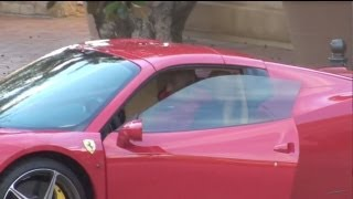 Kobe Bryant Driving Ferrari Back To His House At The Private Pelican Hill Resort