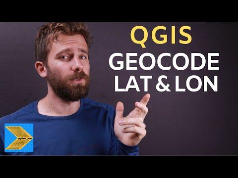 Geocoding addresses to latitude and longitude in QGIS