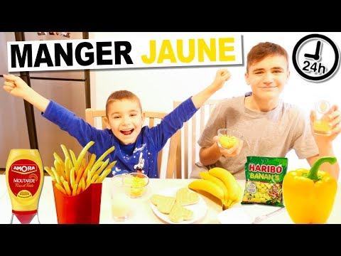 ON MANGE QUE LA NOURRITURE JAUNE PENDANT 24H CHALLENGE