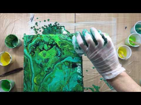 ( 182 ) Acrylic pouring experiment primary elements in the pour