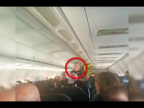 When This Flight Attendant Heard A Strange Voice On The Intercom She Rushed To The Front Of The Plan