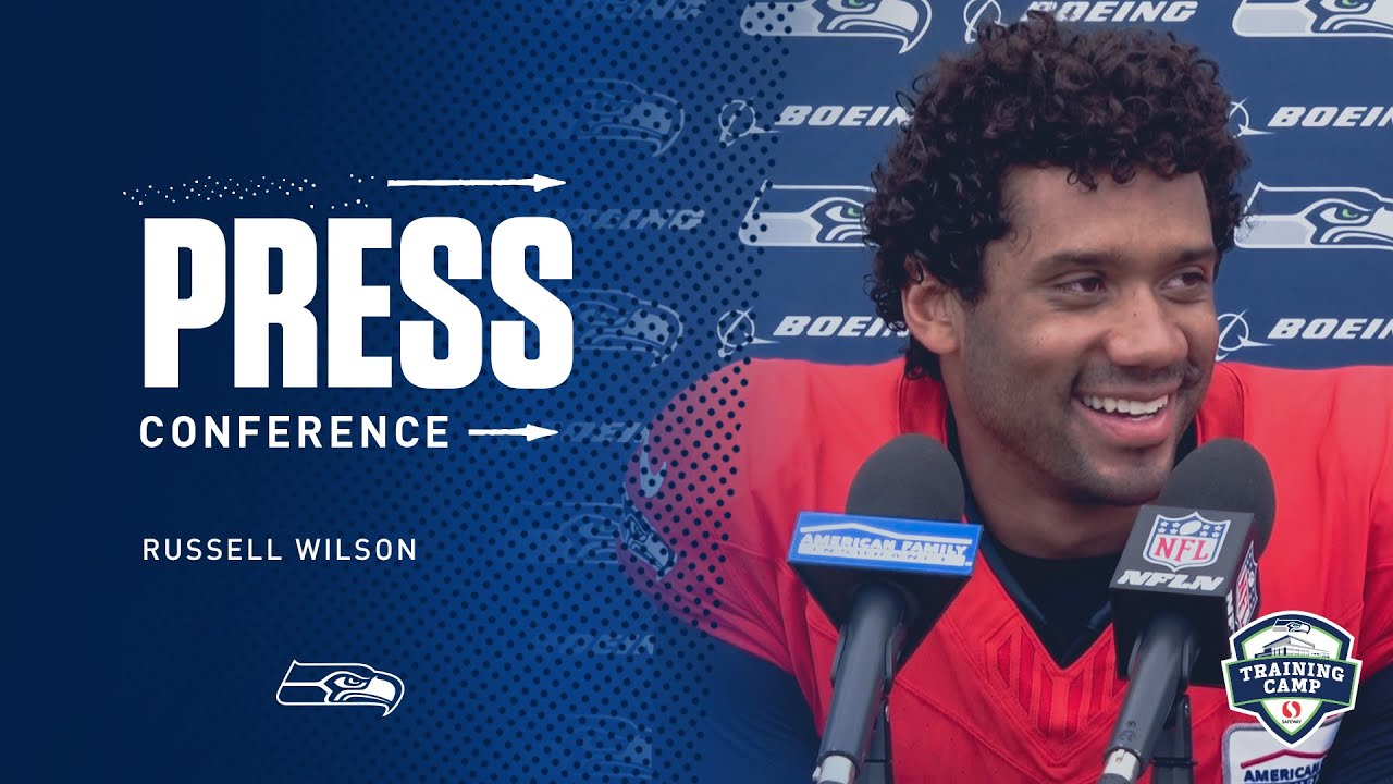 Seahawks Quarterback Russell Wilson Training Camp Day 12 Press Conference