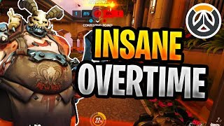 Insane Overtime Overwatch Game Stream Highlight Masters/Grandmasters Game
