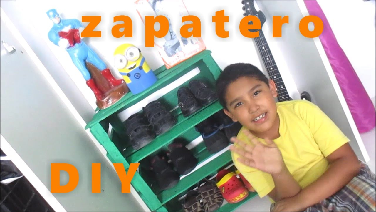 Zapatero de guacales para ni os andy llaya manualidades youtube - Zapatero de pared ...