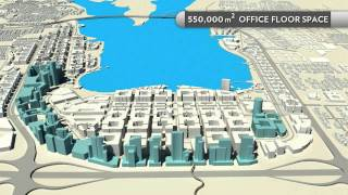 The new city center in Jubail Industrial