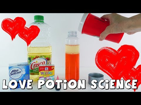 Valentine's Day Science Experiment Love Potion | Sensory Bottle | DCTC Amy Jo Crafts