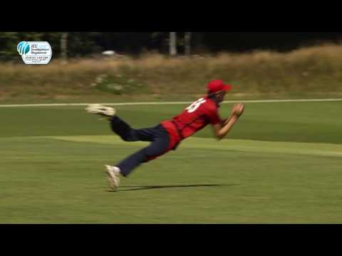 Stunning Slips Catch By Jersey's Matthew Donaldson