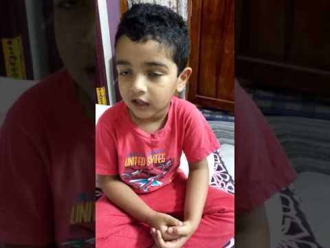 Kid singing Ninnu choodagane chitti gunde( Attarintiki Daredi)...