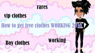 How to get FREE boy, rare, and vip clothes!! NO CHARLES WORKING 2016