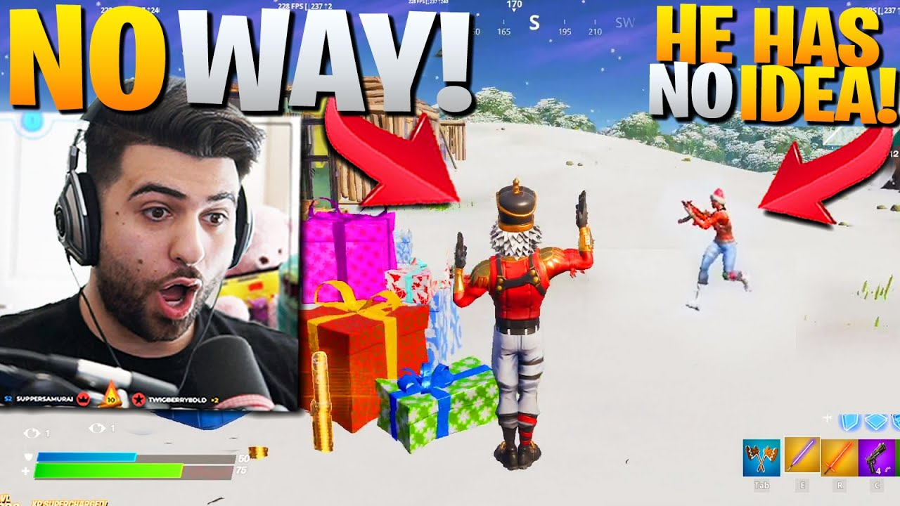 HIDING as CHRISTMAS SKINS! (This SHOULDNT Work!) - Fortnite Battle Royale thumbnail
