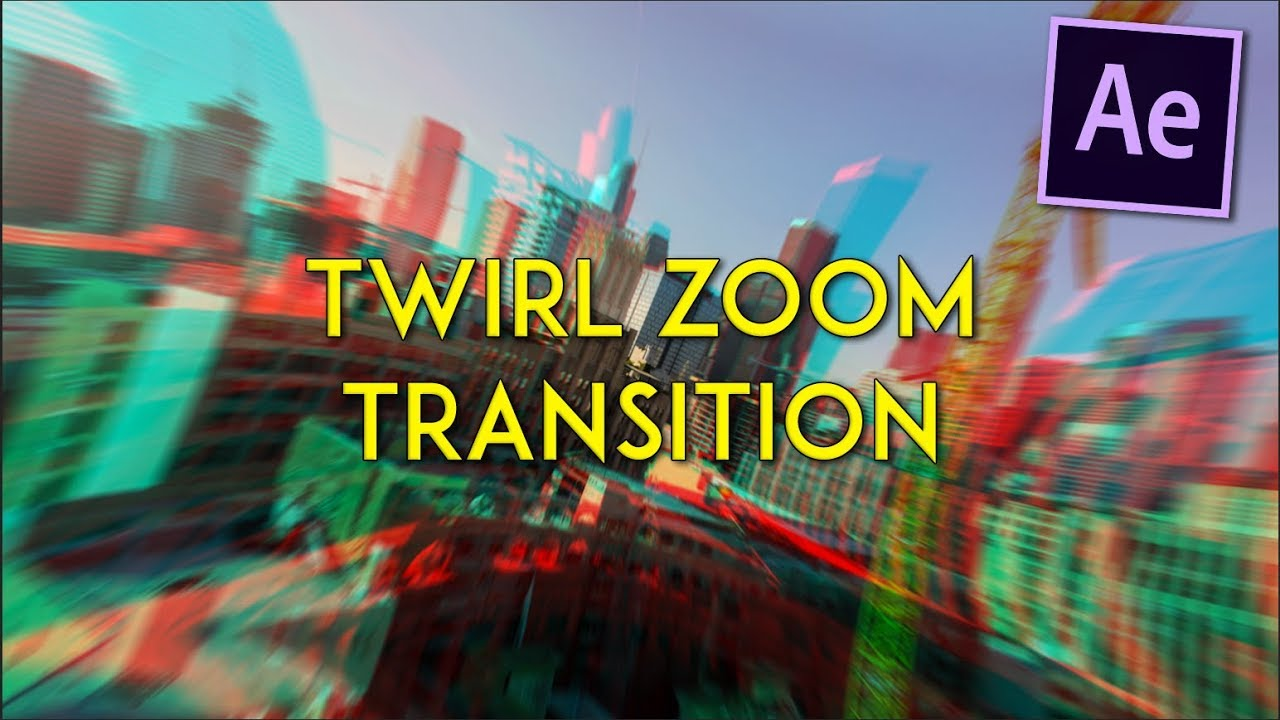 Advanced Twirl Smooth Zoom Transition Tutorial like RiceGum | After Effects  CC 2017
