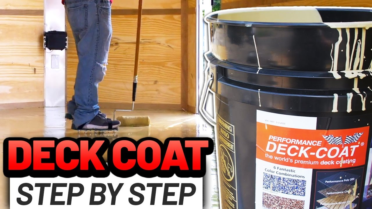 Deck Coat, Step by Step, on Cargo Trailer