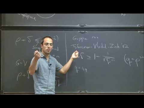 Algebraic geometric codes and their applications - Gil Cohen