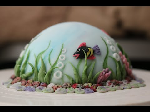 HOW TO MAKE AN  AQUARIUM CAKE #cakedecorating #pastrychef #easycake #aquariamcake #easycakedesign