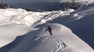 Ski touring on 8th and 9th of March 2014 in Slovenia (Komna region)...