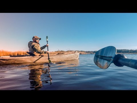 Kayak Duck Hunting - Scouting For Waterfowl and Blind Location