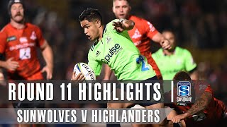 ROUND 11 HIGHLIGHTS: Sunwolves v Highlanders – 2019
